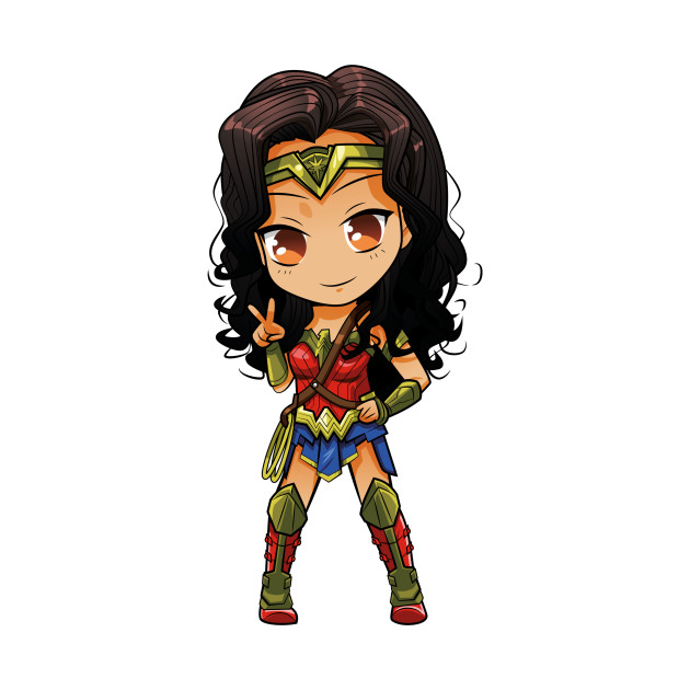 WONDER WOMEN CHIBI - Wonder Woman - T-Shirt | TeePublic