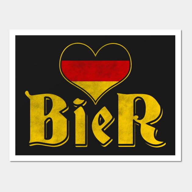 I Love Beer (Ich Liebe Bier) Original German Shirt - Oktoberfest ...