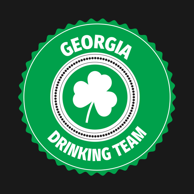 Georgia Drinking Team Lucky St Patrick's Day Shamrock