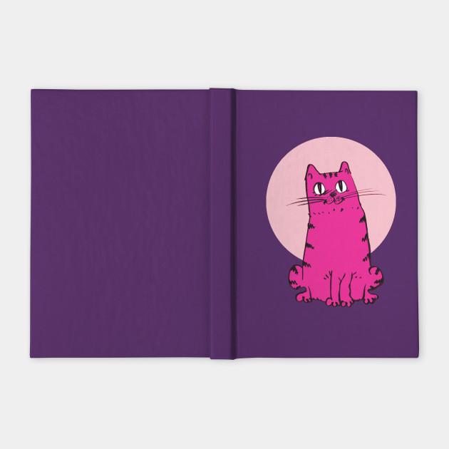purple pink cat sweet cartoon