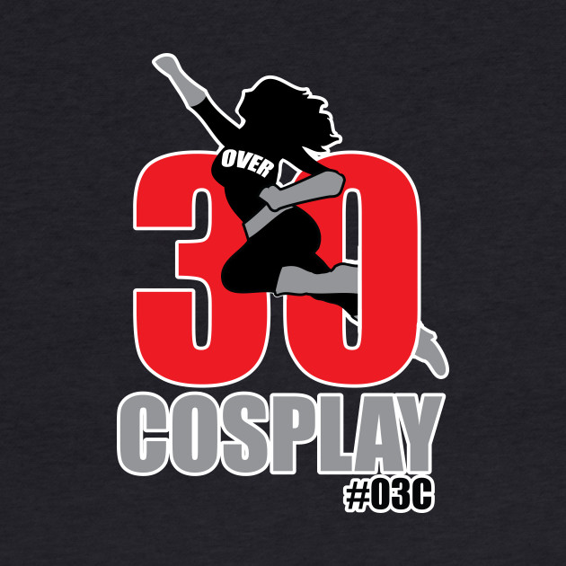 white edge Over30cosplay gals logo