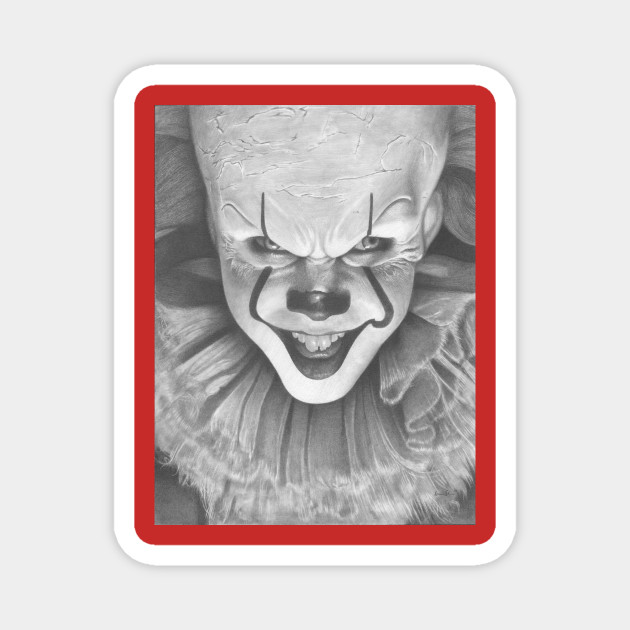 Pennywise Drawing By Iain Stone Pennywise Magnet Teepublic Au