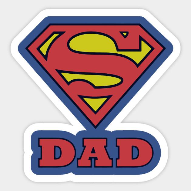 super dad super daddy sticker teepublic
