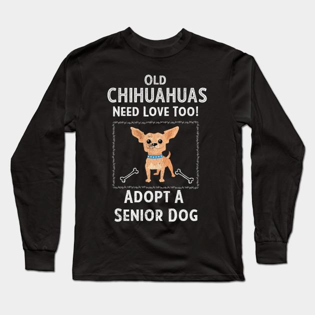 Senior Dog Adoption T-Shirt for Chihuahua Dog Lovers