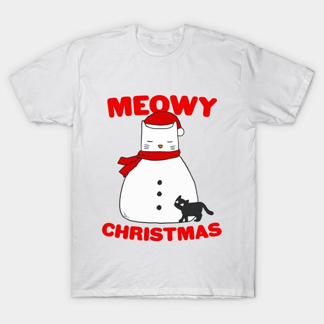 8a0e16f70 Meowy Christmas Snow Cat - Christmas - T-Shirt | TeePublic
