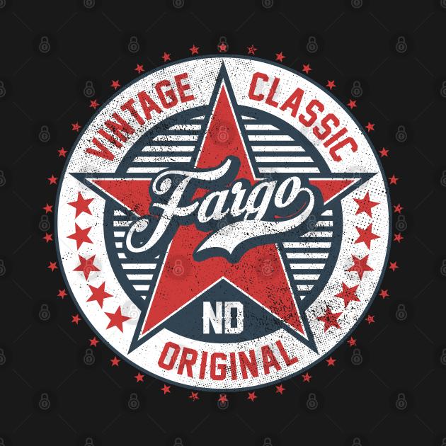 I Love Fargo North Dakota USA Retro Vintage Classic Original