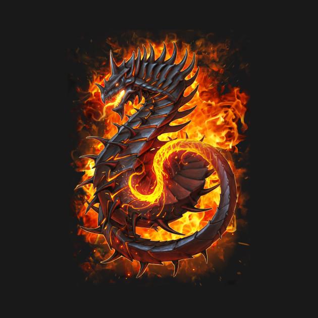 Fire Dragon Alt. Flames - Dragon - Pillow   TeePublicFire Flames Dragon