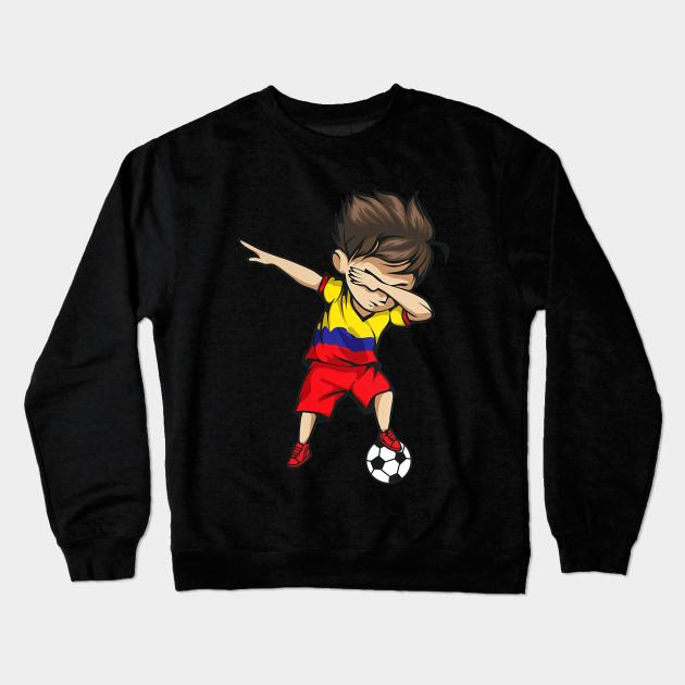 77c711c0a Dabbing Soccer Boy Colombia Jersey Shirt Colombian Football Crewneck  Sweatshirt