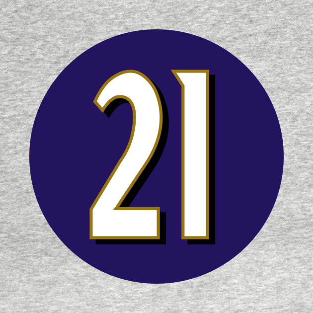 Mark Ingram Jr Baltimore Ravens Number 21 Jersey Inspired