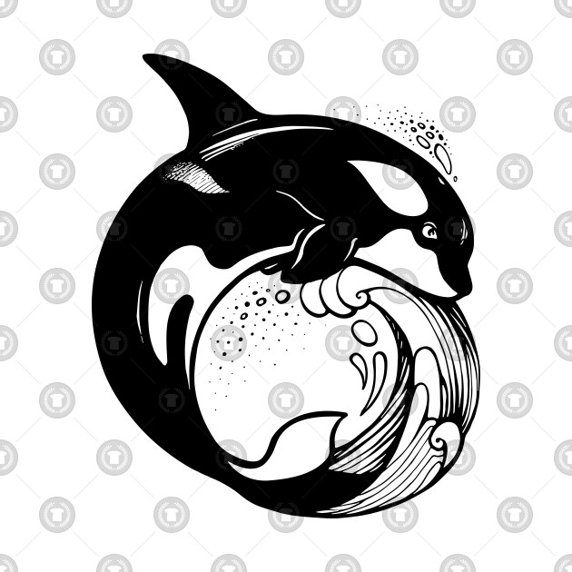 Orca Whale on the wave