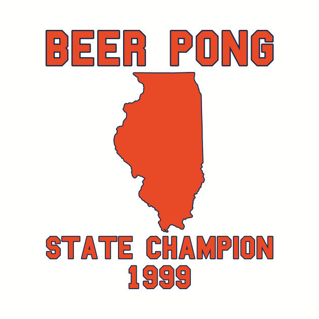 Vintage Illinois Beer Pong State Champion