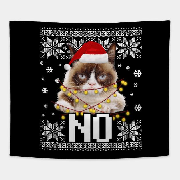 Grumpy Cat Ugly Christmas Sweater.Grumpy Cat Ugly Sweater Christmas Lights No T Shirt