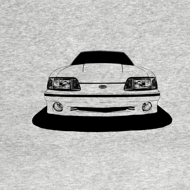 Ford Mustang Gt Fox Body Front Stylized Mustang T Shirt