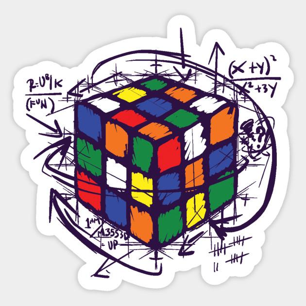 Rubiks Cube Instructions T Shirt Rubiks Cube Sticker Teepublic