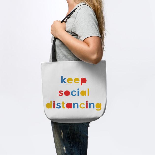keep social distancing, text