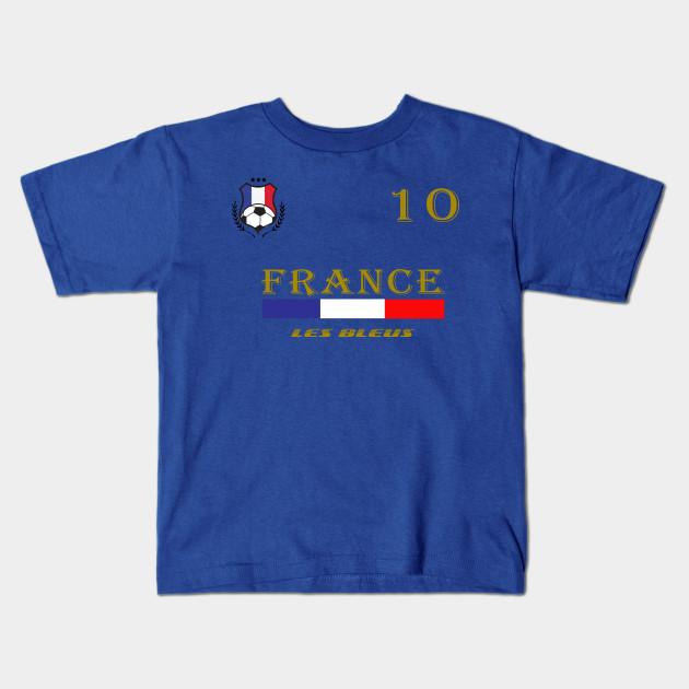 7a53c8e6e Soccer Jersey France T-shirt Football Team World Flag Gift Kids T-Shirt