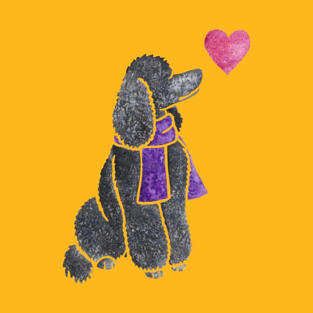 Watercolour Poodle - Standard Poodle - T-Shirt   TeePublic