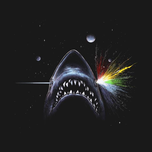 Shark Side Of The Moon Jaws Parody T Shirt Teepublic