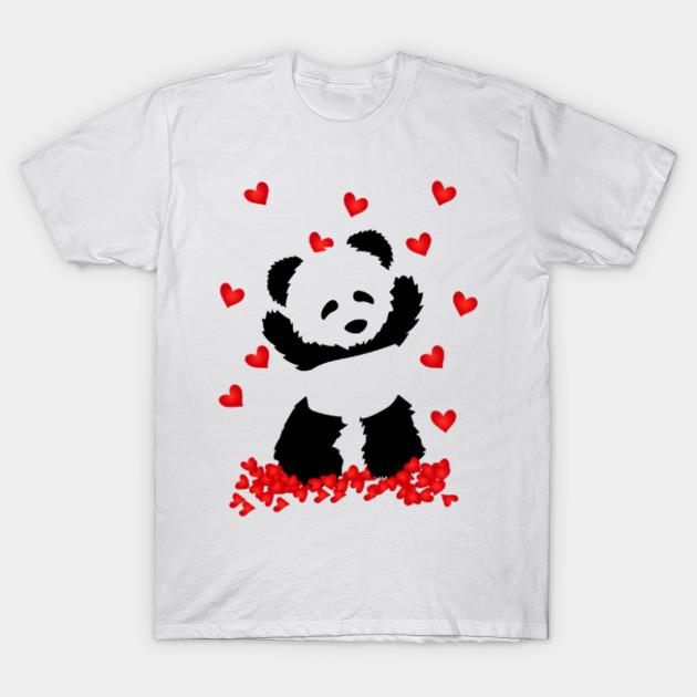 I Love You Cute Panda Valentine S Day Shirt I Love You Cute Panda