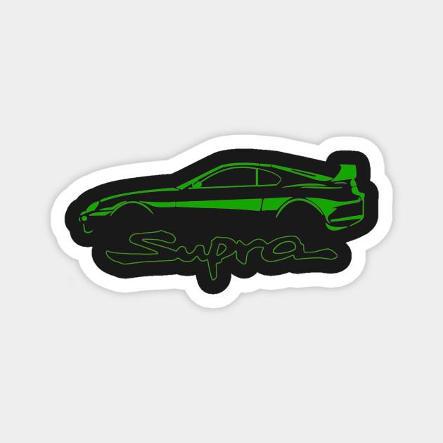 Toyota Green Supra MK4 Vintage