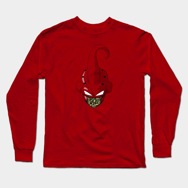 275ac2b76 Transparent Kid Buu x Bape - Anime - Long Sleeve T-Shirt   TeePublic