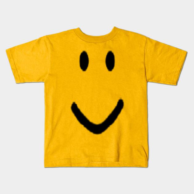 Roblox Halloween Noob Face Costume Roblox Kids T Shirt Teepublic