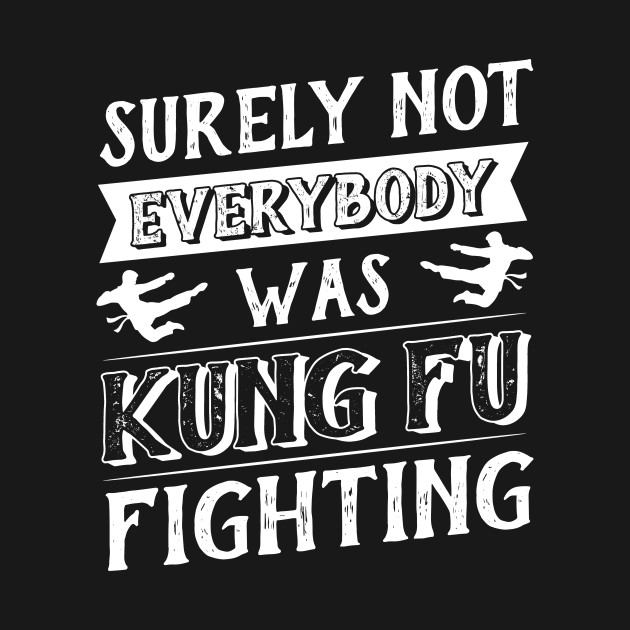 2cc208db2 Surely Not Everybody Was Kung Fu Fighting T-Shirt - Surely Not ...