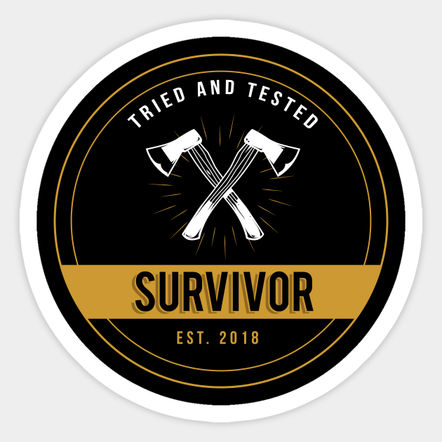 Survivor Logo Survivor Sticker Teepublic Hustlers logo television show, others, template, television, text png. survivor logo