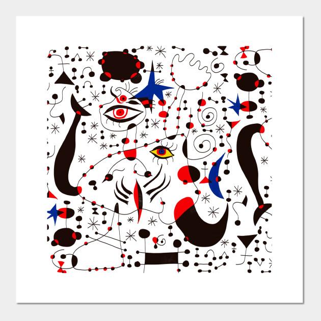 Joan Miro 4 Joan Miro Posters And Art Prints Teepublic
