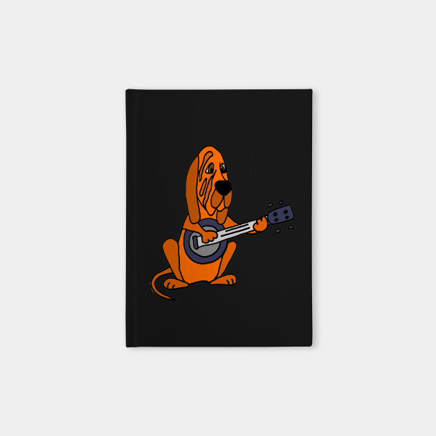 Funny Bloodhound Dog Playing the Banjo