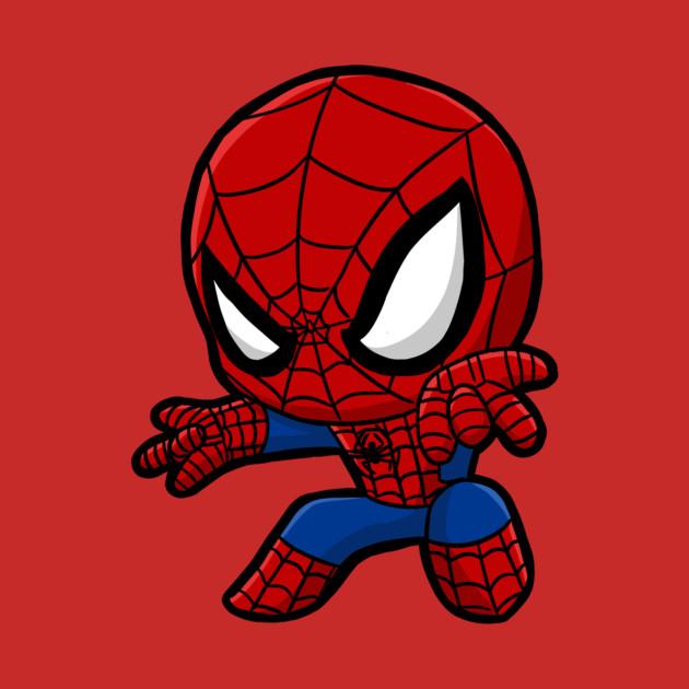 Chibi Spiderman Cute - Spider Man - T-Shirt | TeePublic