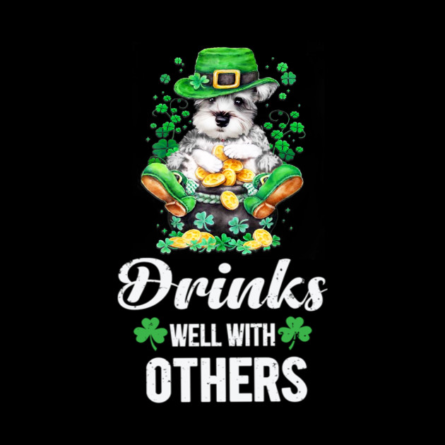Funny Schnauzer Patrick Day Drinking Team