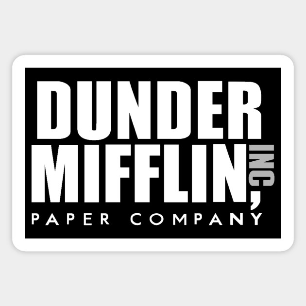 graphic relating to Dunder Mifflin Name Tag Printable named The Place of work Dunder Mifflin