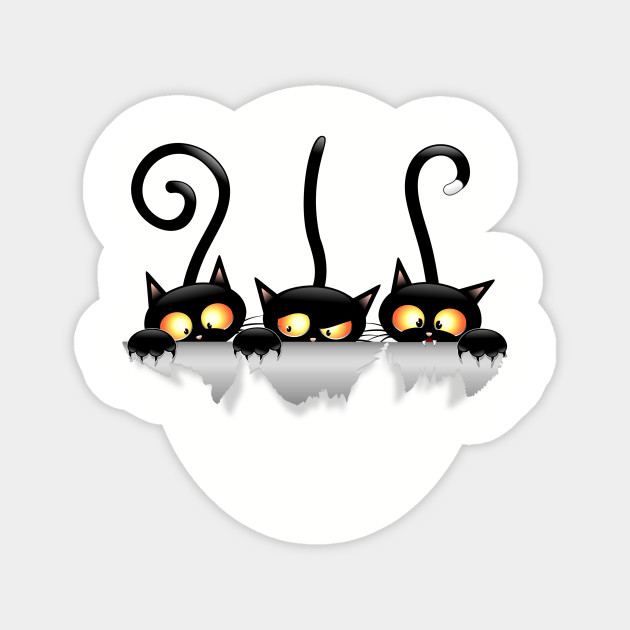 Cats Naughty And Playful Cartoon Characters Funny Cats Sticker