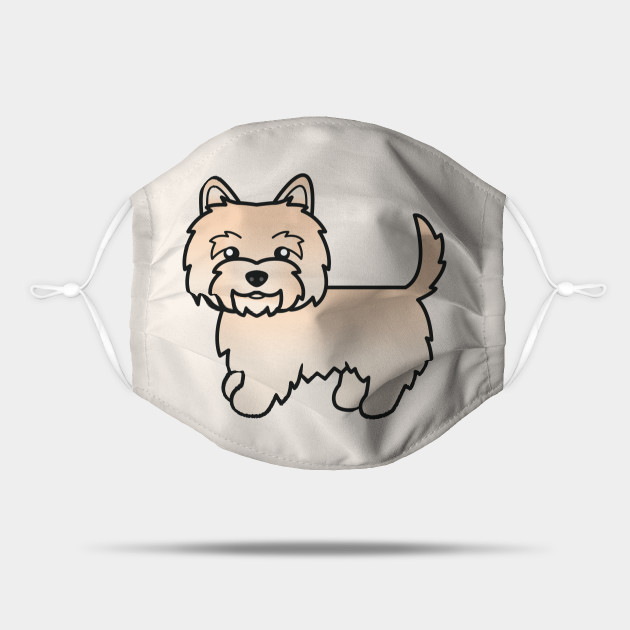 Cream Cairn Terrier Dog Cute Cartoon Illustration