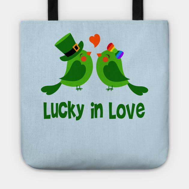 faf4583063 Lucky In Love Irish Green Birds Engagement Wedding - Love Birds ...