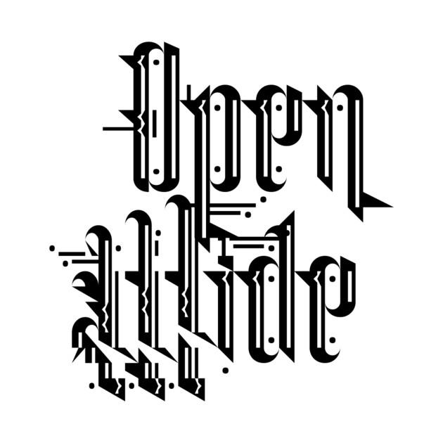 Open Wide font shirt