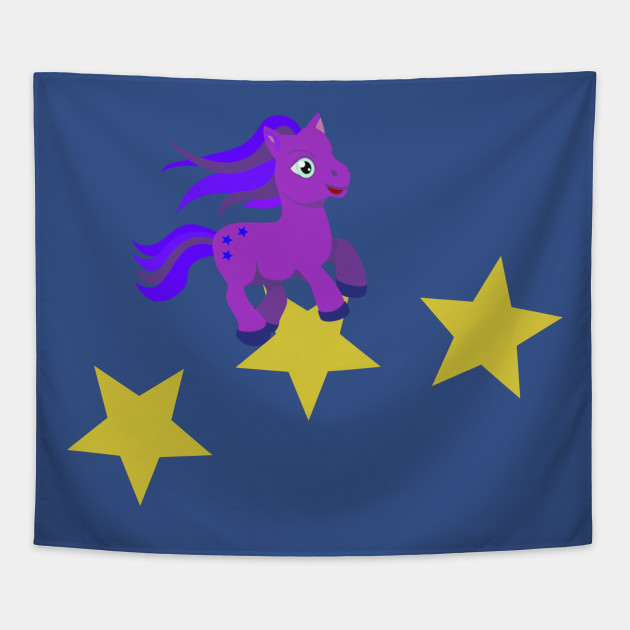pink pony with stars, horses, girl