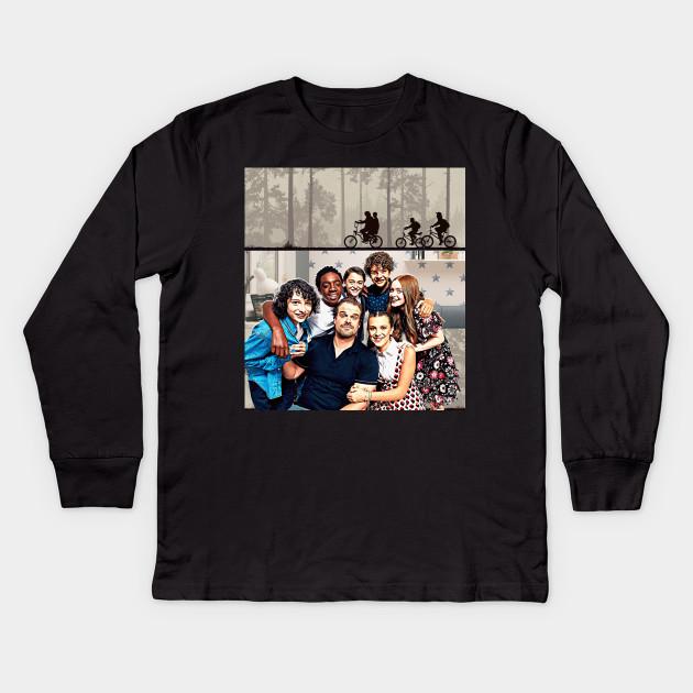 f52b73ed Stranger Things Kids mix-- FRONT BACK 2 DESIGNS-- - Eleven - Dustin  Henderson - Mike Wheeler - Will Byers - Lucas Sinclair - Max - Jim Hopper