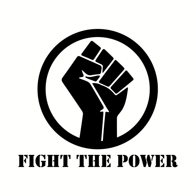 FIGHT THE POWER RAISED FIST BLACK POWER SHIRT