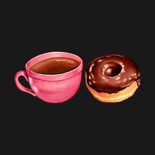 Coffee & Chocolate Donut