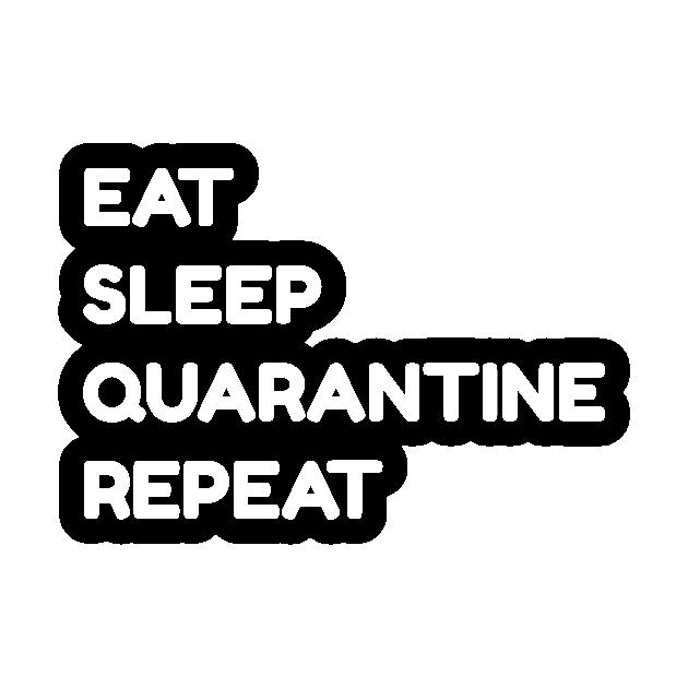 Quarantine Mens T Shirt Eat Sleep Isolate Repeat Funny Isolation Gift Kids Tee