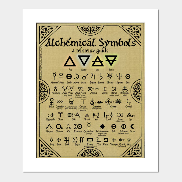 Alchemical Symbols Reference Chart Alchemist Posters And Art