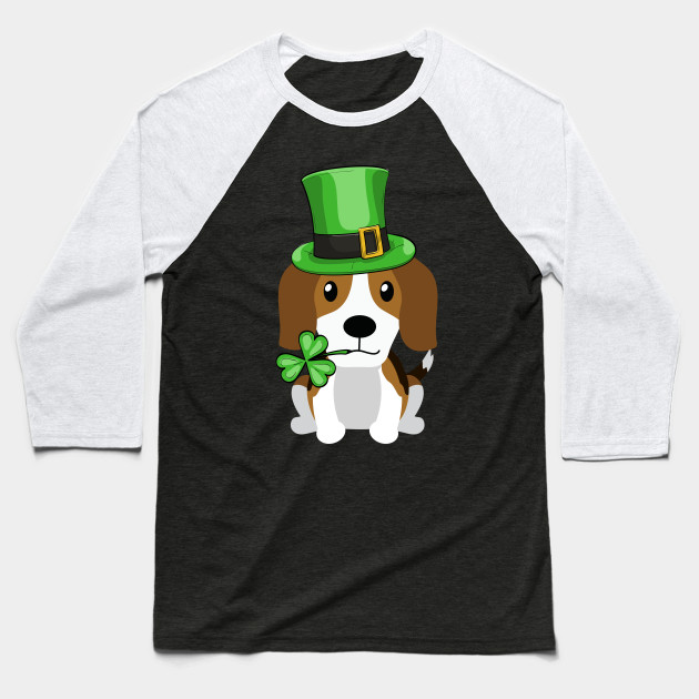 40c07a7d Cute Beagle St. Patrick's Day Dog Lovers Owners Gift Baseball T-Shirt