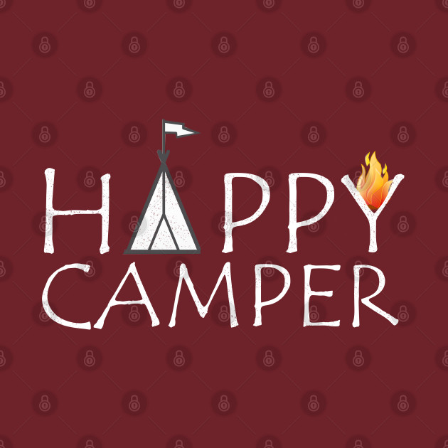 happy camper rv vintage camping shirt Outdoors Campfire