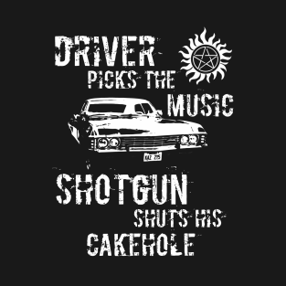 Driver Picks The Music Shotgun shutshis cakehole t-shirts