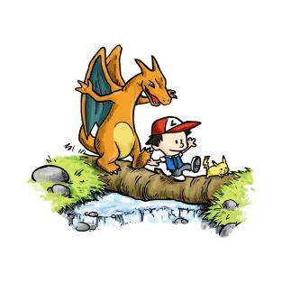 Calvin & Chrizard t-shirts