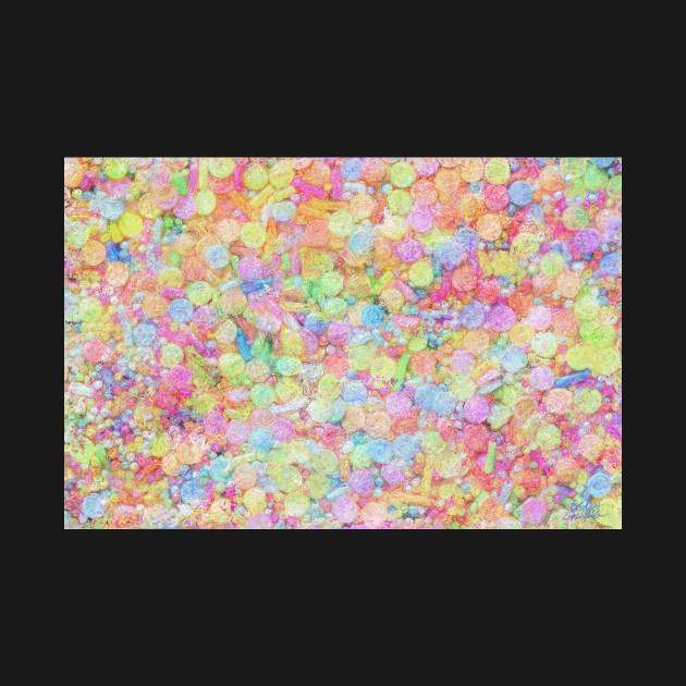 Candy Sprinkles All Over Impressionist Painting