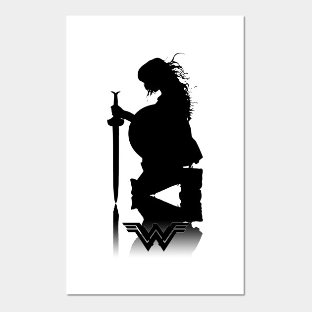 Wonder Woman silhouette - Wonder Woman Silhouette - Posters and Art Prints  | TeePublic