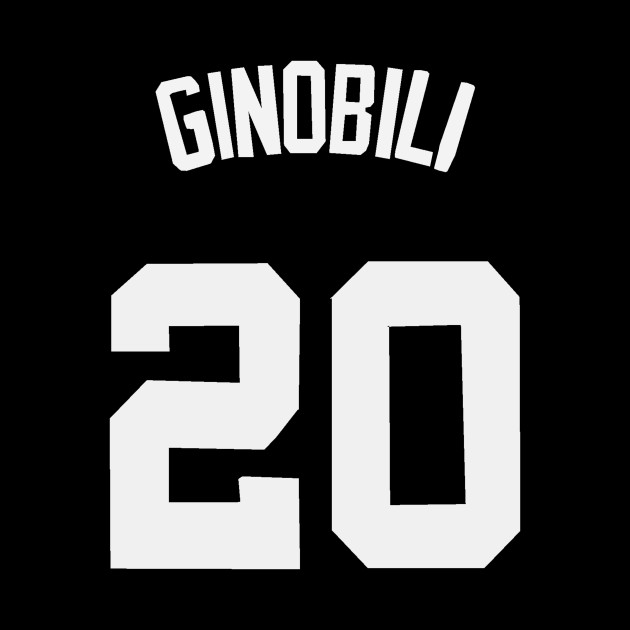 Manu Ginobili Jersey - San Antonio Spurs